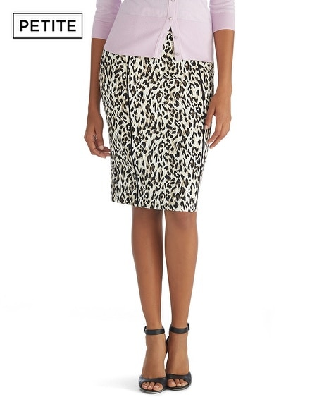Petite Leopard Print Pencil Skirt