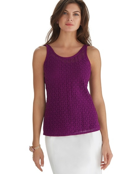Reversible Dual Neck All Over Lace Top