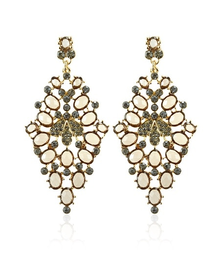 Neutral Diamond Drop Earring