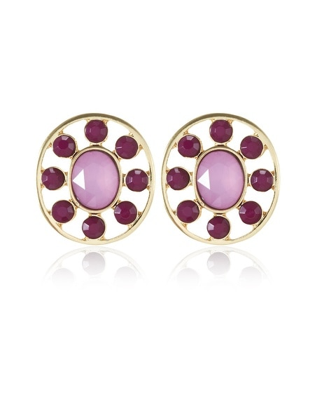 Starlet Round Stud Earring
