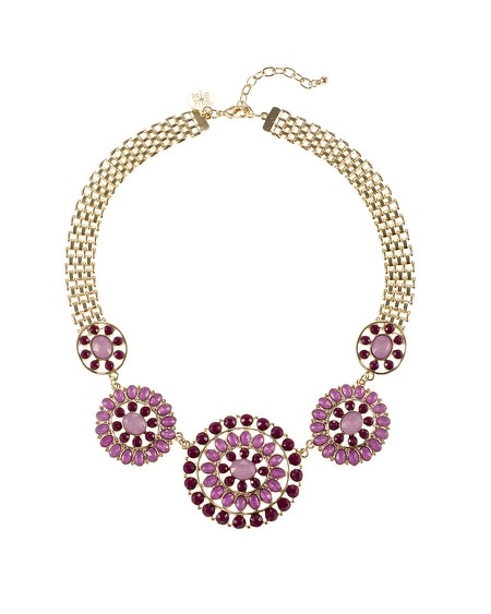 Starlet Round Disc Short Necklace