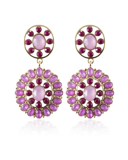 Starlet Round Disc Drop Earring