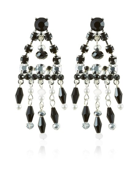Black and White Chandelier Earring