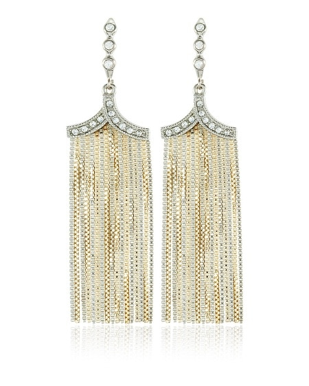 Mixed Metal Fringe Earring