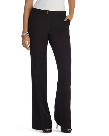Seasonless Curvy Modern Bootcut Black Pants