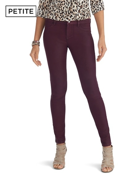 Petite Saint Honore Coated Skinny Jeans