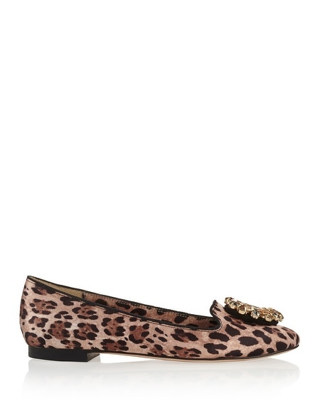 Animal Print Loafer Flats