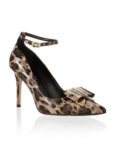 Genius Leather Leopard Heel