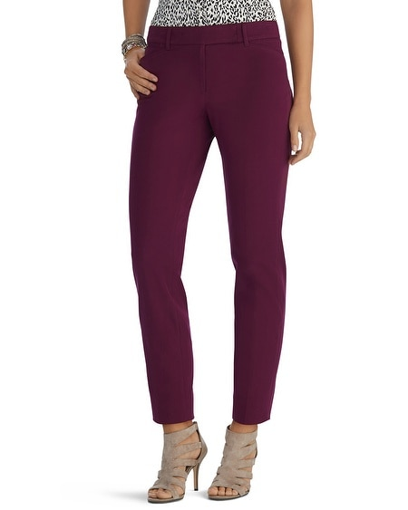 Ultra Stretch Curvy Slim Ankle Burgundy Pant
