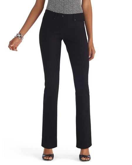 Slim Ponte Black Pants