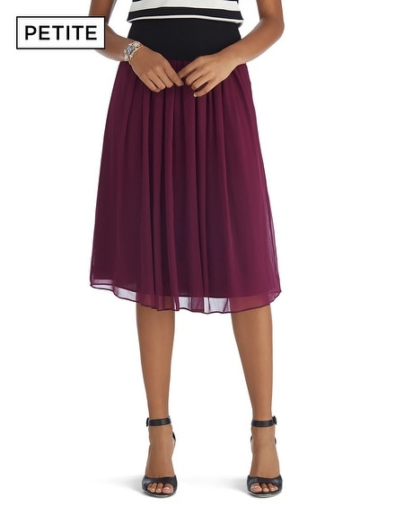 Petite Soft Pleated Skirt