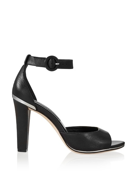 Ankle Strap Chunky Black Heels