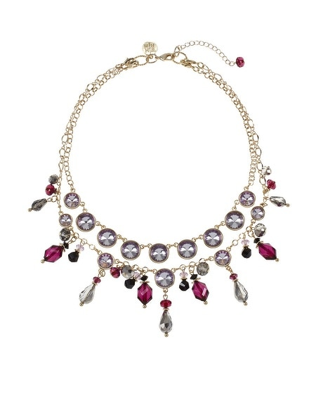 Double Layered Convertible Plum Necklace