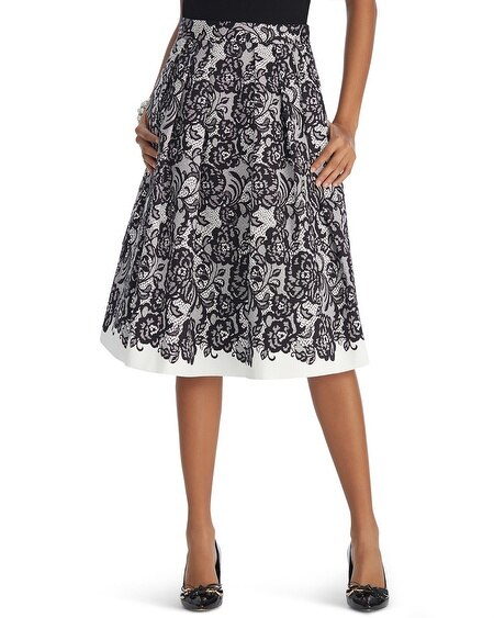 Lace Printed Full Skirt