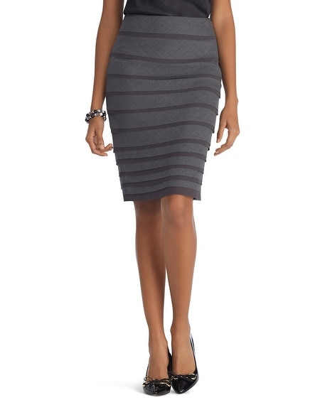 luxe suiting tiered gray pencil skirt white house
