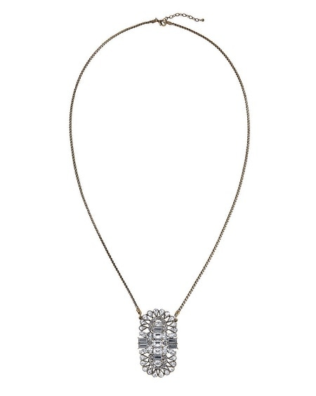 Crystal Ox Pendant Long Necklace