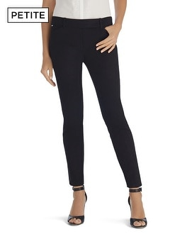 Petite Ultra Stretch Slim Ankle Black Pants