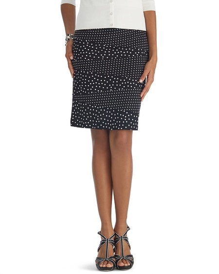Mixed Dot Pencil Skirt