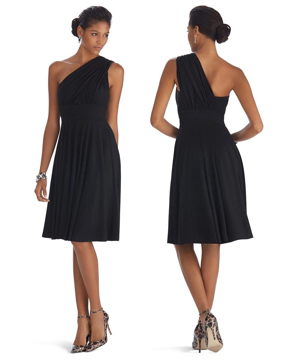 Genius Convertible Fit Flare Black Dress
