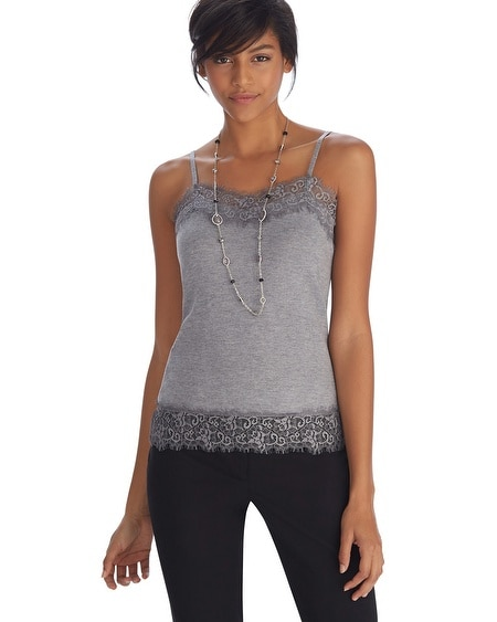 Lace Trim Sweater Cami