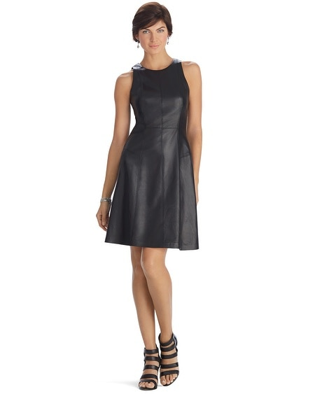Limited Edition Sleeveless Leather A-Line Dress