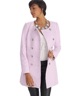 Limited Edition Pink Topper Coat - White House Black Market