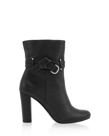 Leather Bow Black Boot
