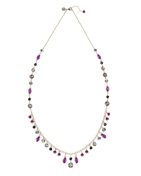 Burgundy Crystal Drop Necklace