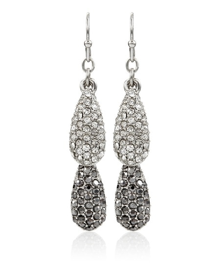Silver Double Teardrop Earring