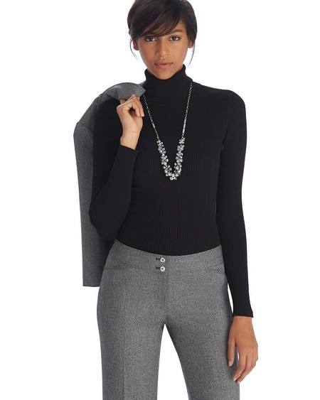 Long Sleeve Ribbed Black Turtleneck