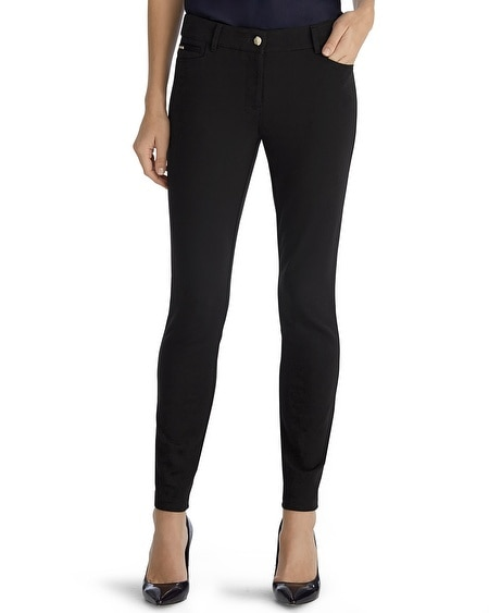 5-Pocket Ponte Skinny Black Legging