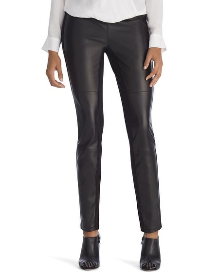 Luxe Leather Front Black Legging