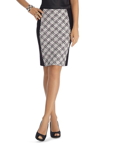 Ponte Tweed Pencil Skirt