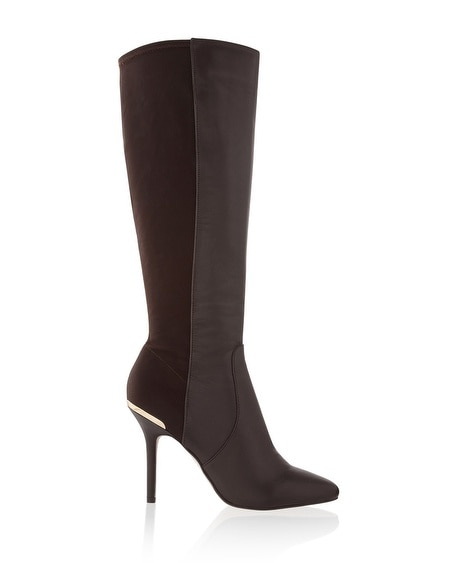 Brown Stretch Heel Boot