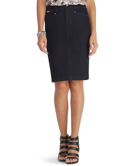 Dark Jean Pencil Skirt