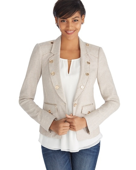 Herringbone Raw Edged Day Blazer