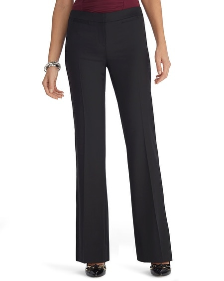 Luxe Suiting Flare Leg Black Pants
