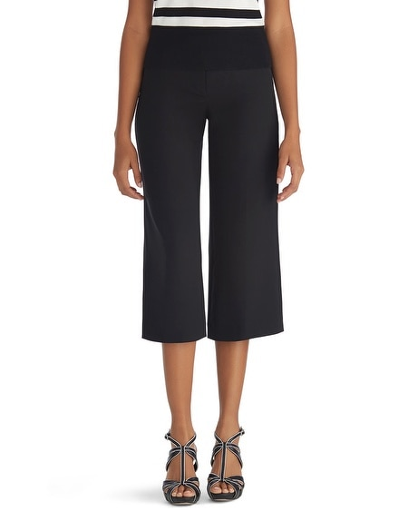 Wide Leg Crop Black Pants
