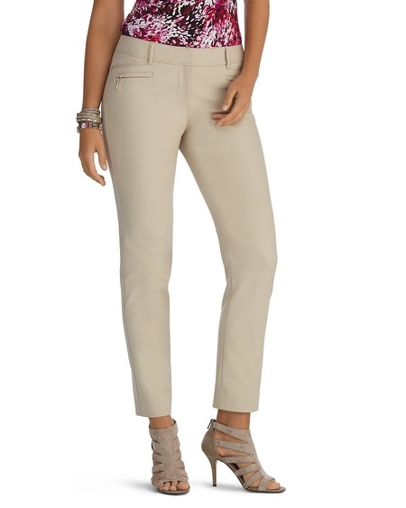 Curvy Perfect Form Ankle Zip Pant