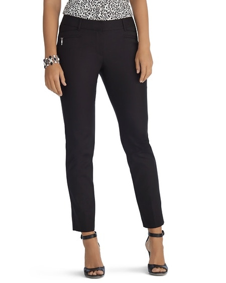 Curvy Perfect Form Ankle Zip Black Pant