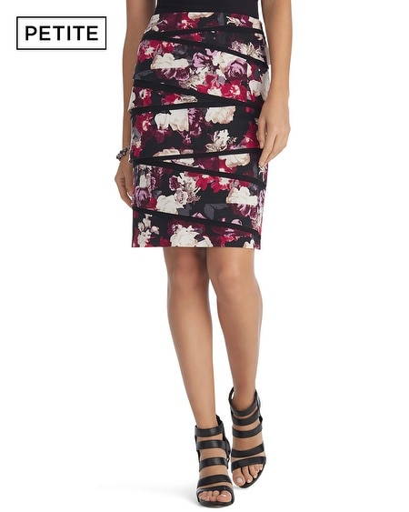 Petite Floral Printed Pencil Skirt