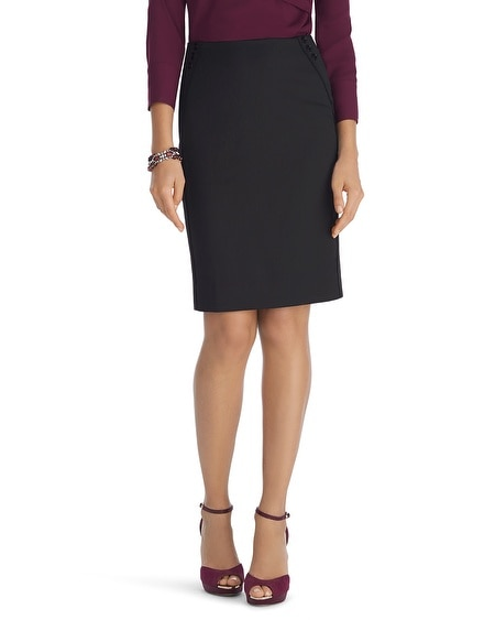 Luxe Suiting Black Pencil Skirt