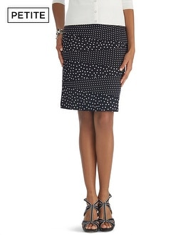 Petite Mixed Dot Pencil Skirt