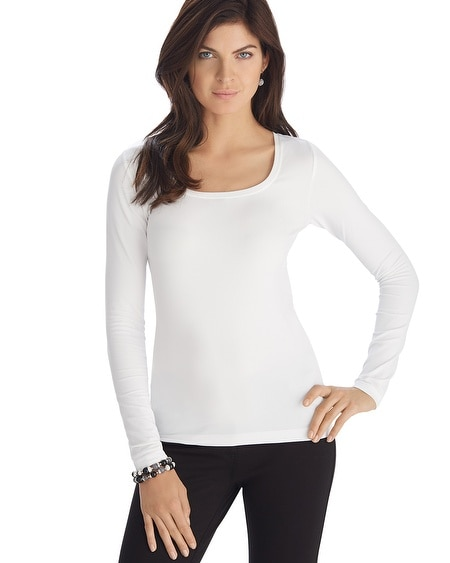Long Sleeve Seamless White Tee