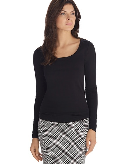 Long Sleeve Seamless Black Tee