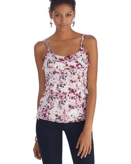 Tiered Floral Shell Top