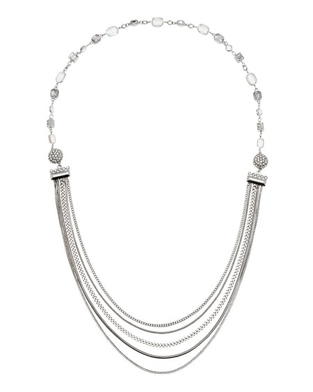 Silver Chain Crystal Convertible Magnetic Necklace
