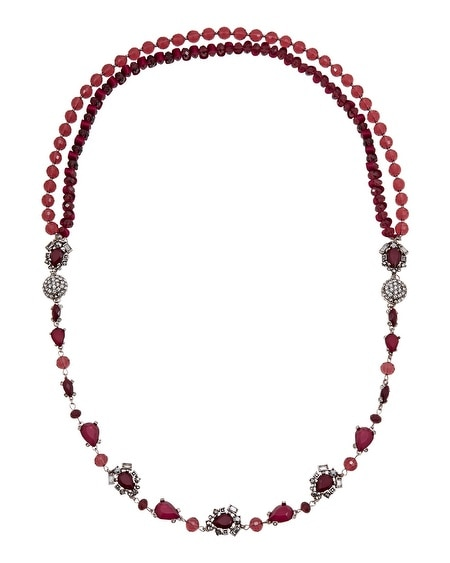 Burgundy Convertible Magnetic Necklace