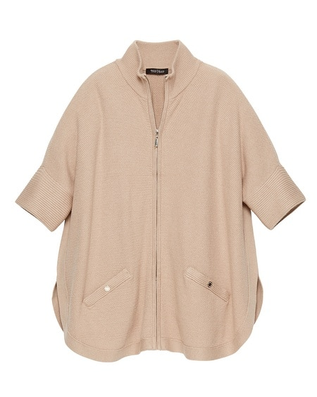 Zip Up Sweater Poncho 3