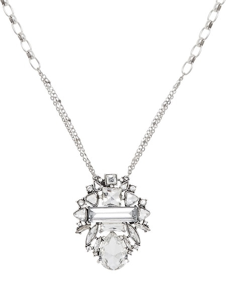 Crystal Deco Pendant Necklace